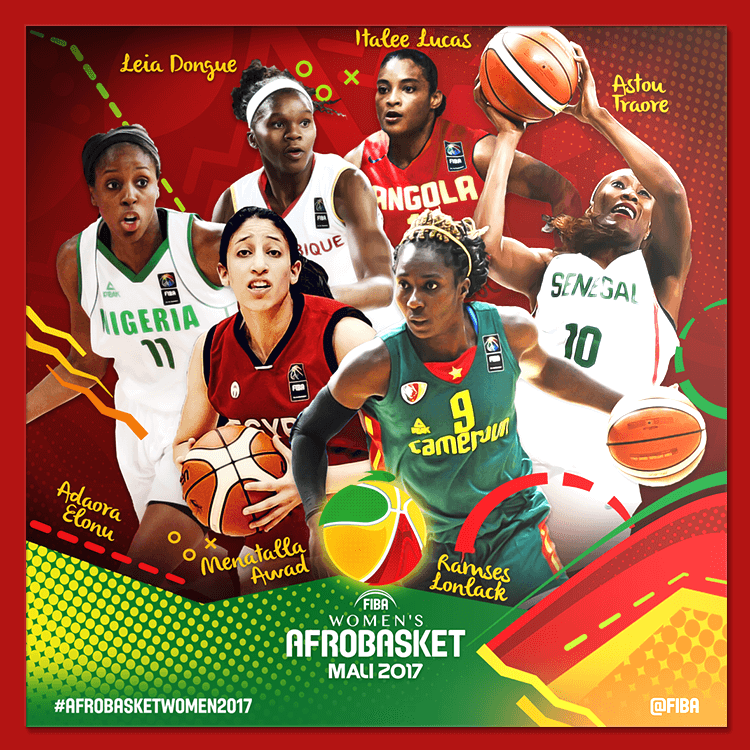 FIBA Women's AfroBasket social media design