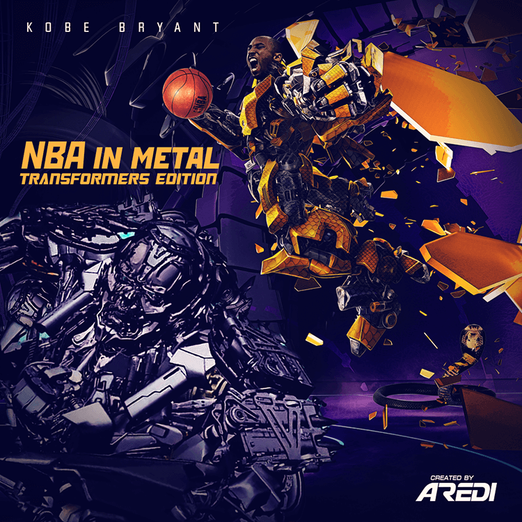 Kobe Bryant. NBA in metal. Transformers edition.