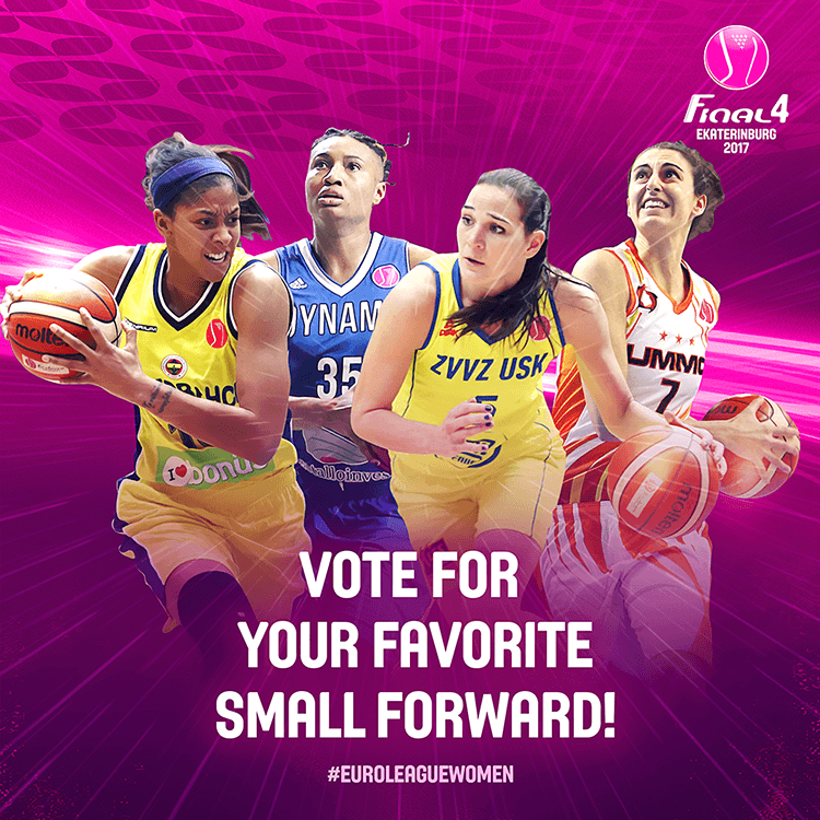 EuroLeague women social media design | Voting for best small forward
