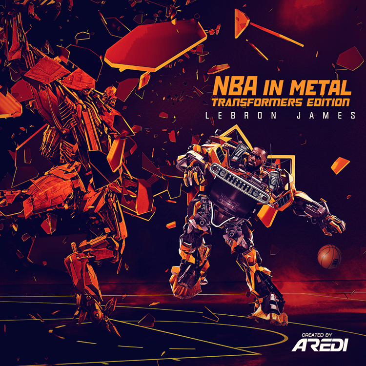 Lebron James. NBA in metal. Transformers edition.