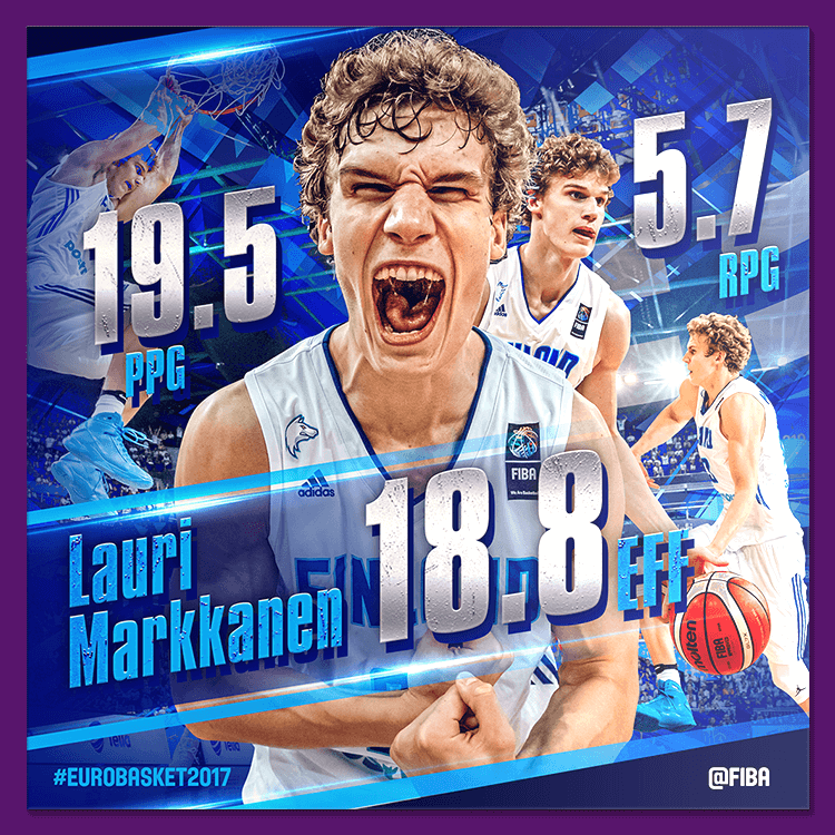 Lauri Markkanen | Social media design for EuroBasket 2017