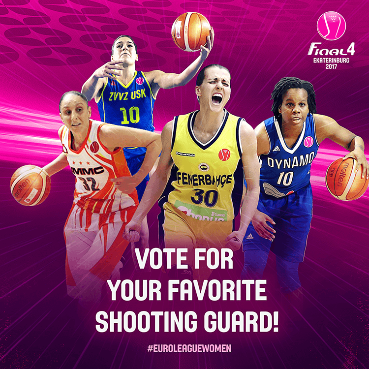 EuroLeague women social media design | Voting for best shooting guard