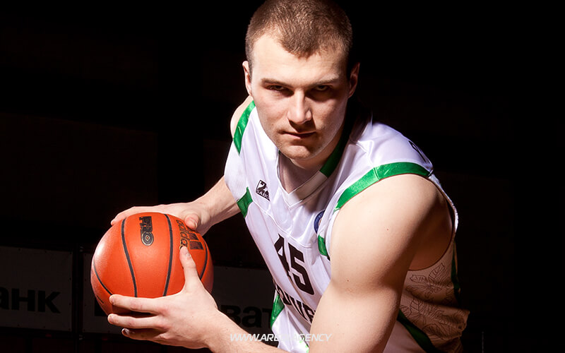 Artiom Parakhouski. BC Budivelnyk photo shoot 2011-2012