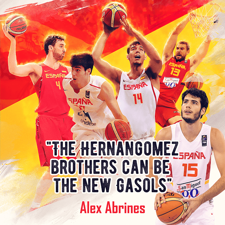FIBA social media design | Hernangomez brothers, Alex Abrines