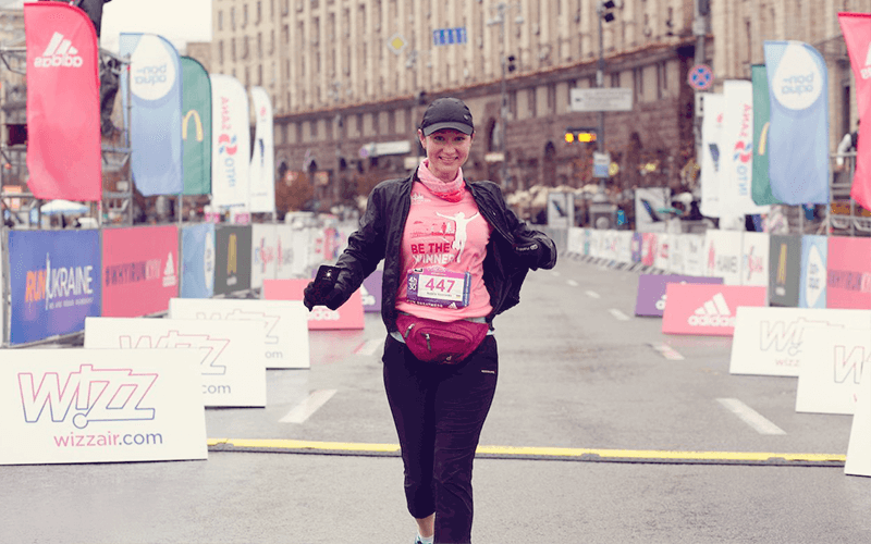 Макет футболки Wizz Air Kyiv City Marathon 2016.