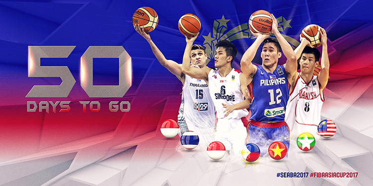 FIBA social media design | 50 days to go