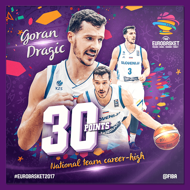 Goran Dragic | Social media design for EuroBasket 2017
