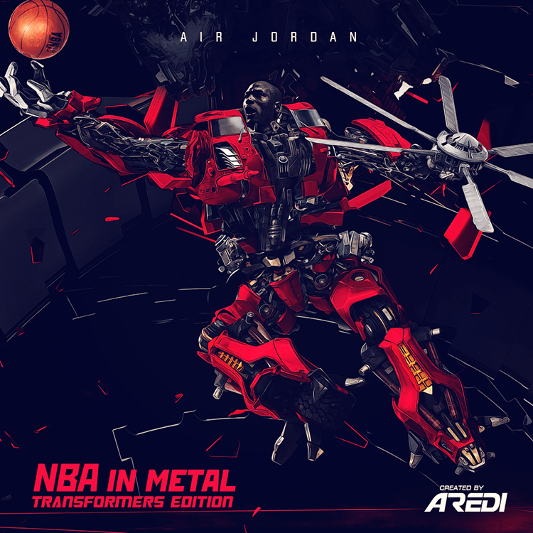 Air Jordan. NBA in metal. Transformers edition.