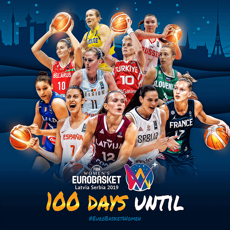 Women's EuroBasket 2019 | 100 days until