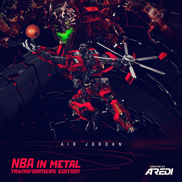NBA in metal. Transformers edition. Air Jordan