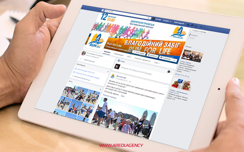 Дизайн социальных медиа Run for life | Social media design Run for life