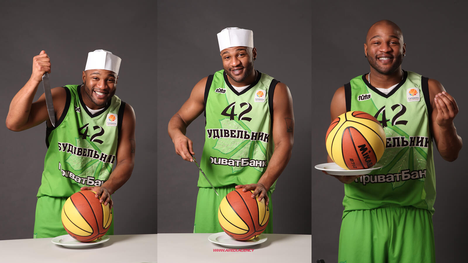 "Халид Эль–Амин. Фотосессия для журнала ""Баскетбол"" 