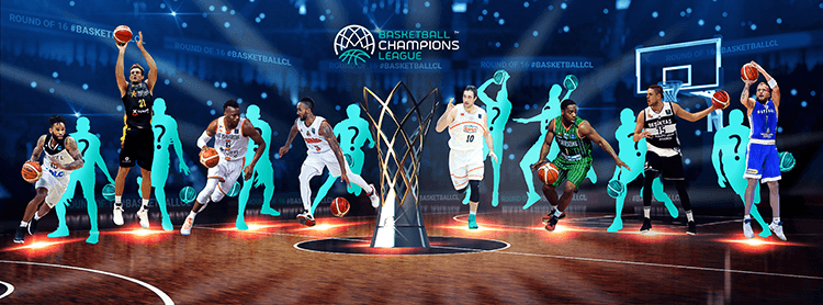 Basketball Champions League social media design |  BCL TOP-16 Header