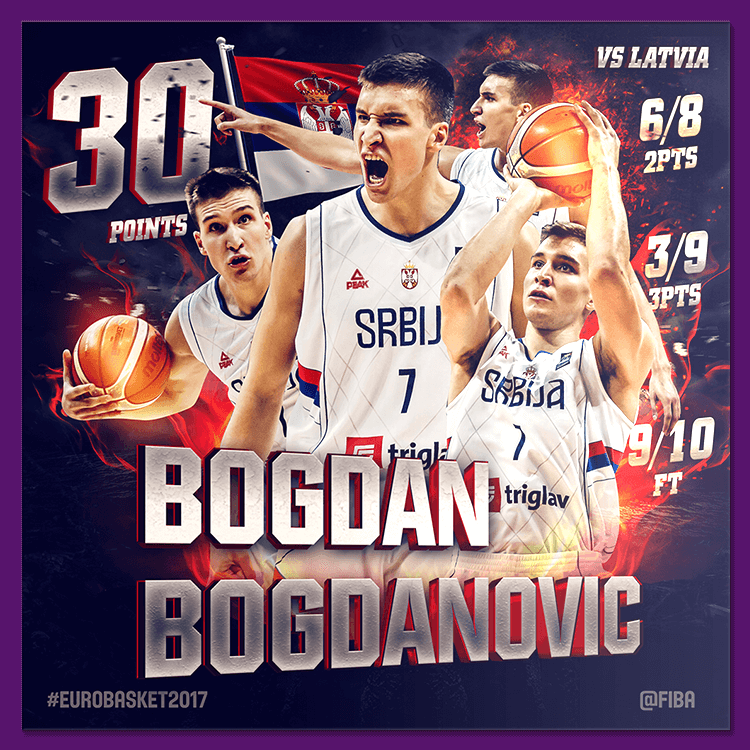 Bogdan Bogdanovic | Social media design for EuroBasket 2017