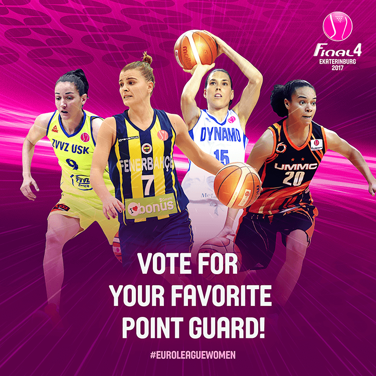 EuroLeague women social media design | Voting for best guard